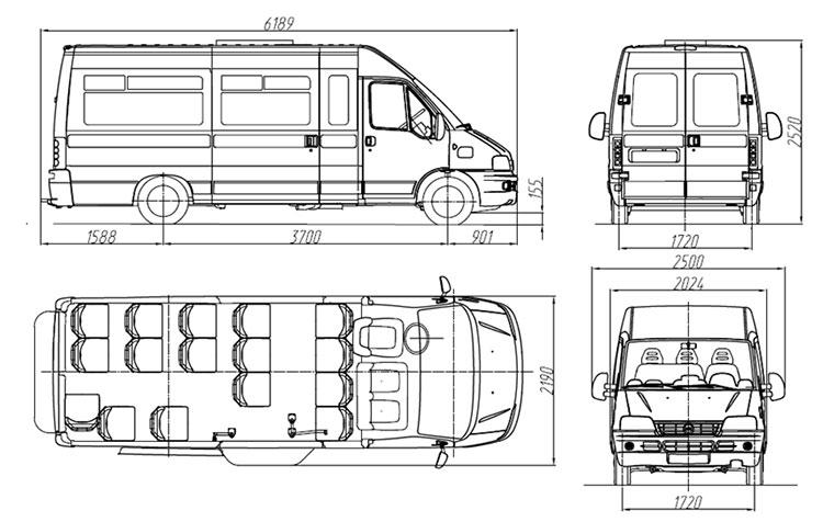 Fiat Ducato такси 18+1