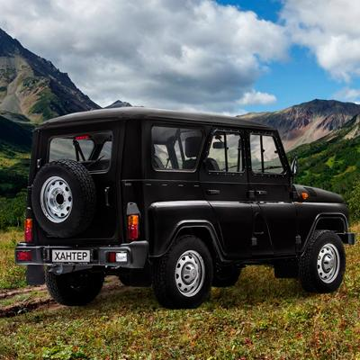 Купить новый УАЗ Хантер в черном цвете | Салон ТОРГМАШ в Москве