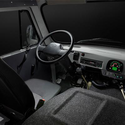 Место водителя УАЗ Цельнометаллический фургон