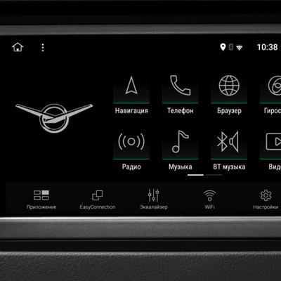 Мультимедийная система с 7-дюймовым экраном УАЗ Пикап с АКПП