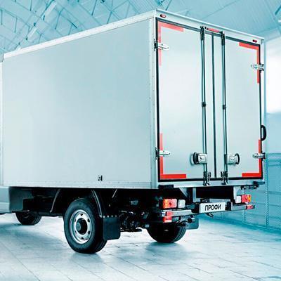 Дневные ходовые огни и противотуманки промтоварного фургона УАЗ Профи