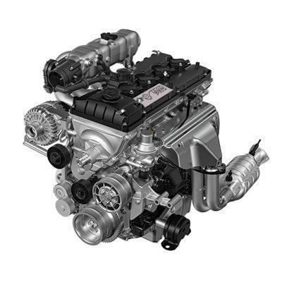 Двигатель УАЗ Профи с однорядной кабиной