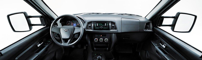 Интерьер УАЗ Профи с однорядной кабиной